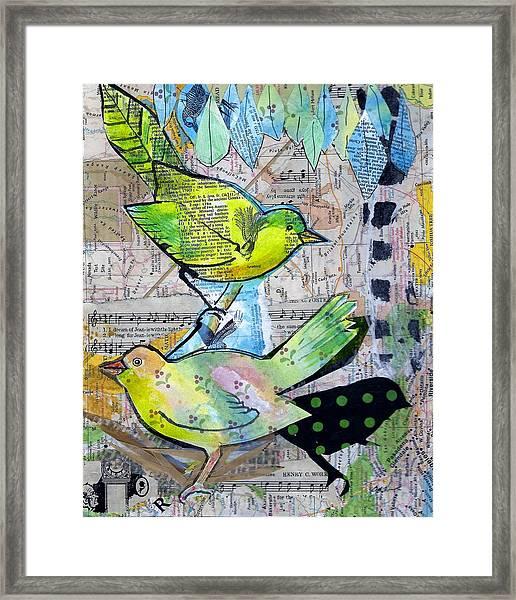 Happy Birds Framed Print