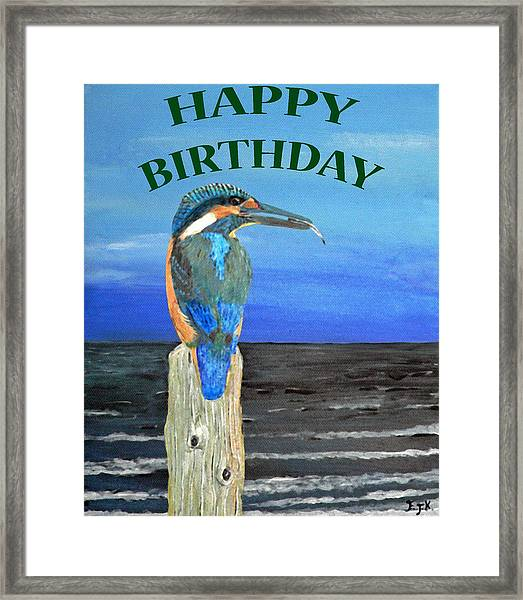 Framed Print featuring the painting Happy Birthday by Eric Kempson