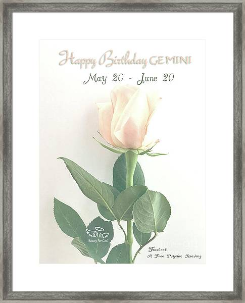 Happy Birthday Gemini Framed Print