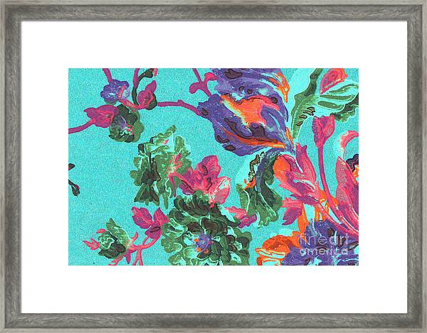 Happy Blooms Framed Print