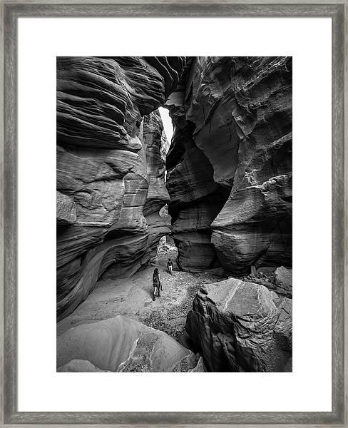 Happy Canyon Framed Print