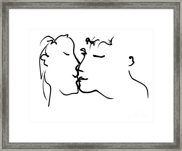 Happy Couple Framed Print
