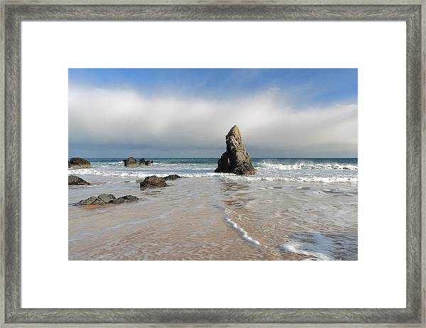 Happy Day On Sango Bay Framed Print