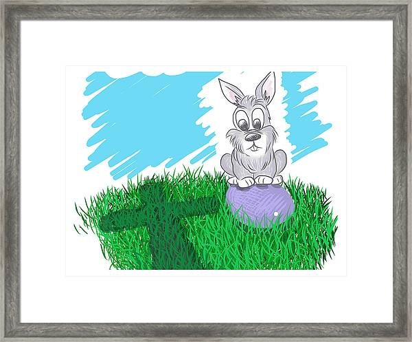 Framed Print featuring the digital art Happy Easter by Antonio Romero