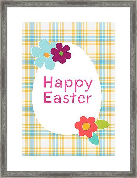 Happy Easter Egg- Art By Linda Woods Framed Print