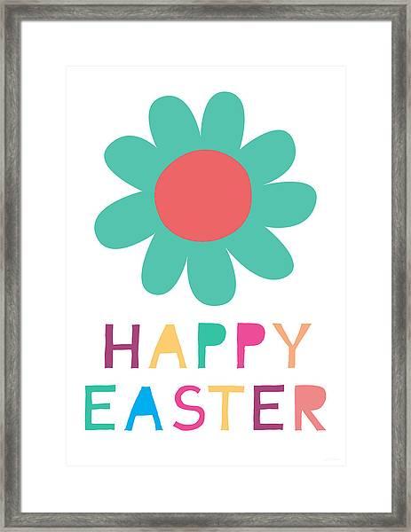 Happy Easter Flower - Art By Linda Woods Framed Print