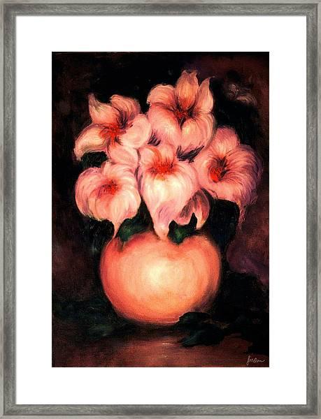 Happy Flowers Framed Print