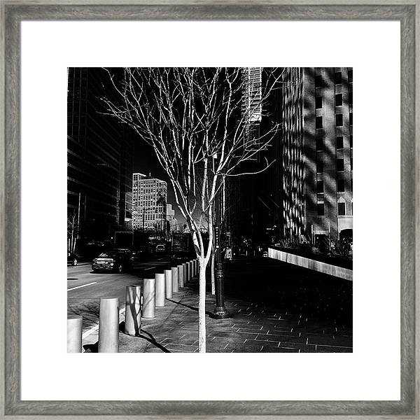 Happy #friday Morning Outside #1wtc Framed Print by Gina Callaghan