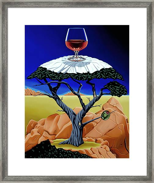 Happy Hour At The Midreal Cypress Framed Print