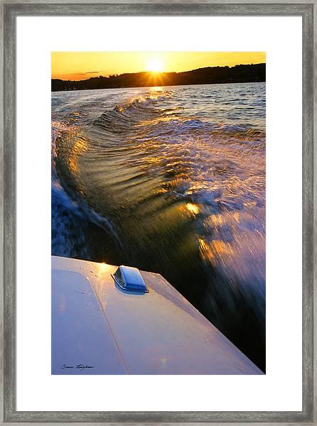 Happy Hour - Lake Geneva Wisconsin Framed Print