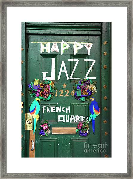 Happy Jazz French Quarter New Orleans Framed Print