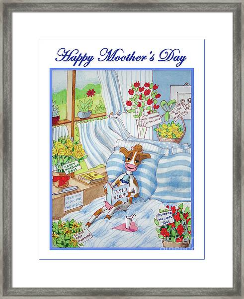 Happy Moother's Day Framed Print