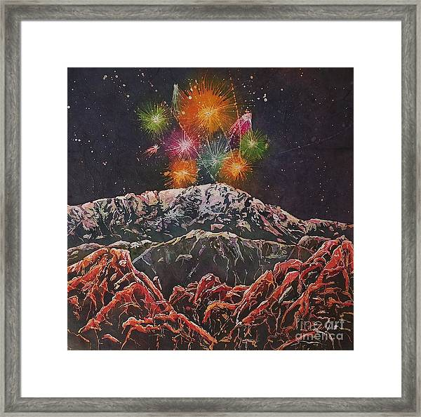 Happy New Year From America's Mountain Framed Print