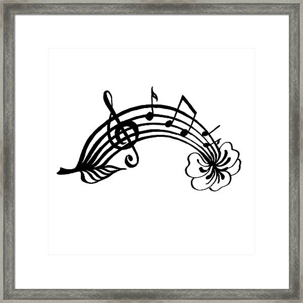 Happy Notes And Fun Music I Framed Print