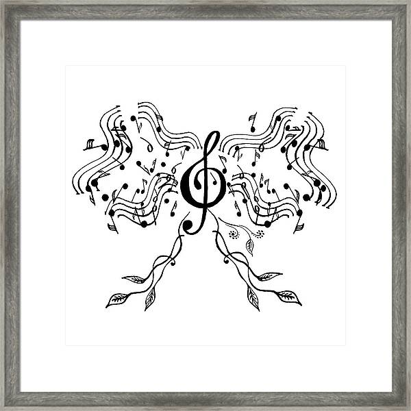 Happy Notes And Fun Music Iv Framed Print