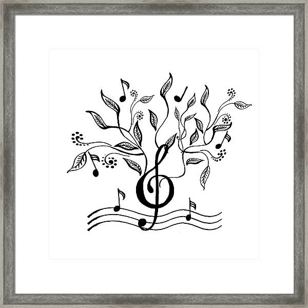 Happy Notes And Fun Music Vi Framed Print
