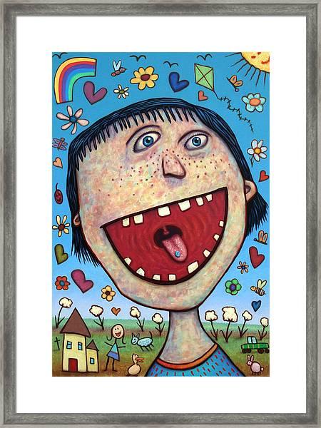 Happy Pill Framed Print