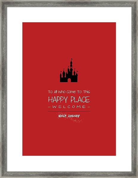 Happy Place Framed Print
