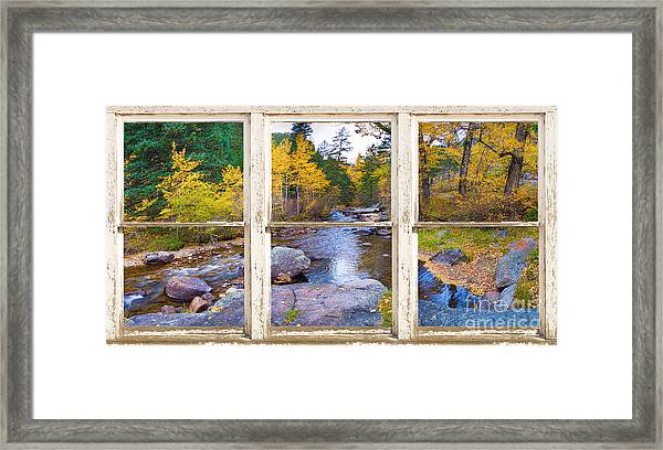 Happy Place Picture Window Frame Photo Fine Art Framed Print