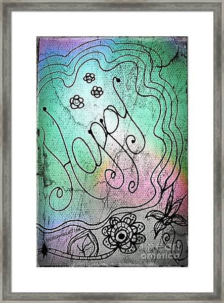 Framed Print featuring the drawing Happy by Rachel Maynard