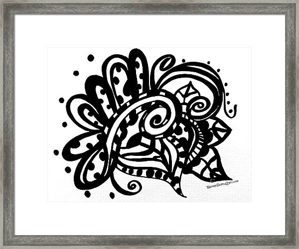 Framed Print featuring the drawing Happy Swirl Doodle by Rachel Maynard