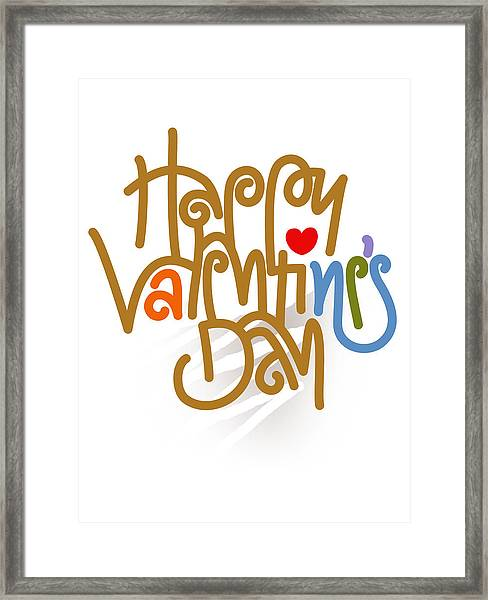 Happy Valentine's Day Poster Framed Print