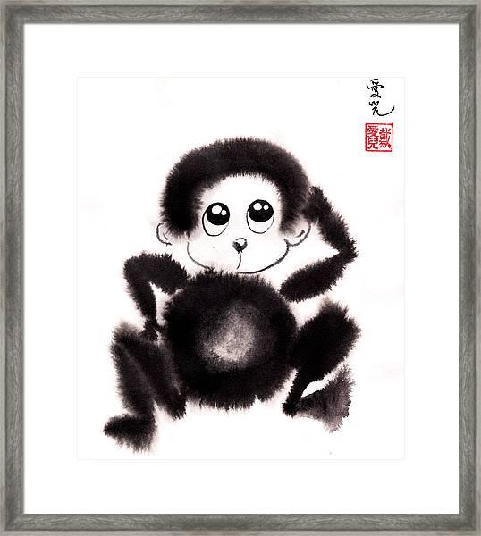 Happy Year Of The Monkey Framed Print