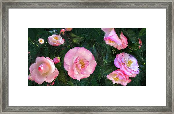 Framed Print featuring the digital art Harbingers Of Spring by Gina Harrison