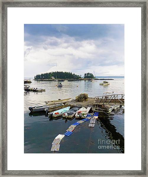 Harbor At Georgetown Five Islands, Georgetown, Maine #60550 Framed Print