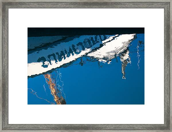 Harbor Blue Framed Print