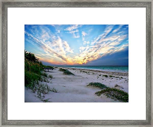 Harbor Island Sunset Framed Print