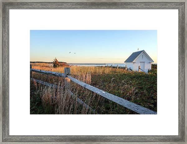 Harbor Shed Framed Print