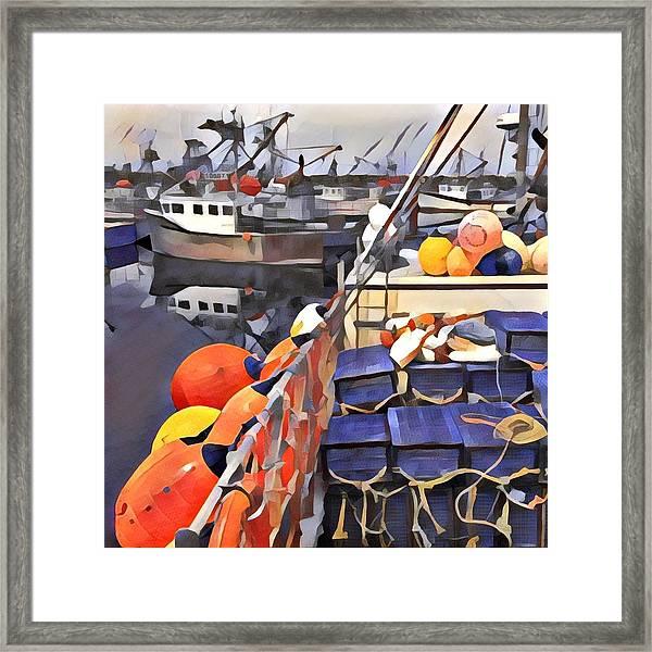 Harbour Ville Framed Print