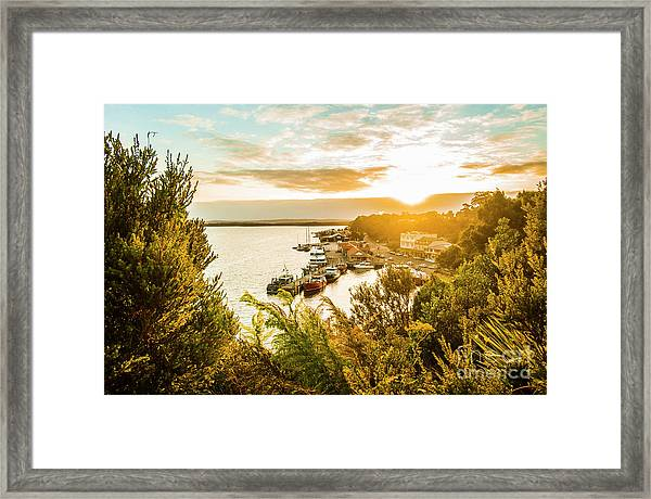 Harbouring A Colourful Vista Framed Print