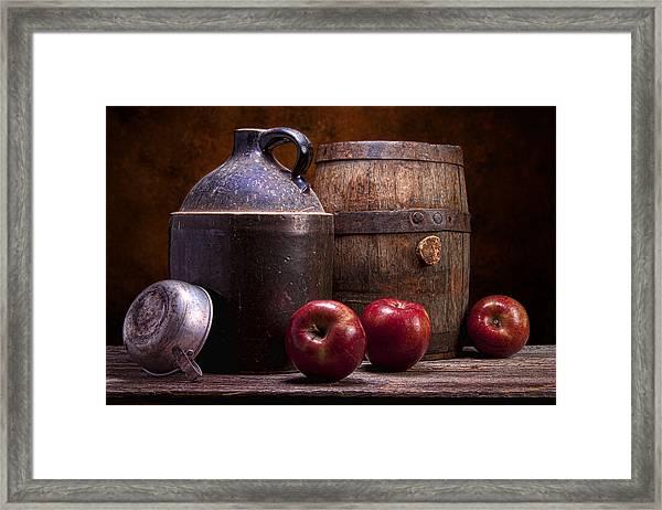 Hard Cider Still Life Framed Print