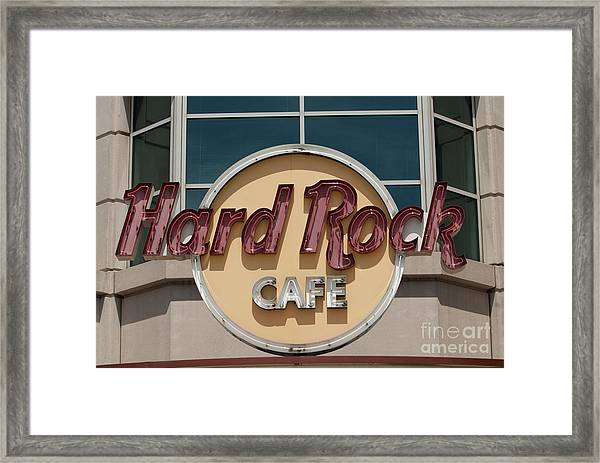 Hard Rock Cafe Framed Print