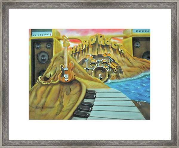Hard Rock Framed Print