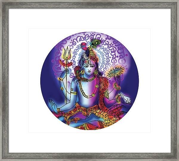 Hari Hara Krishna Vishnu Framed Print