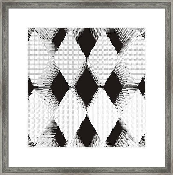 Harlequin Pattern Framed Print