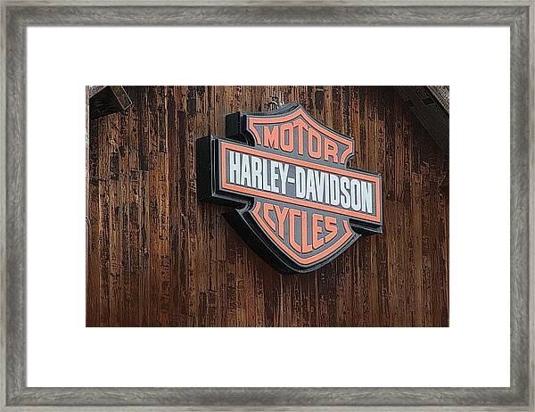 Harley Davidson Sign In West Jordan Utah Photograph Framed Print