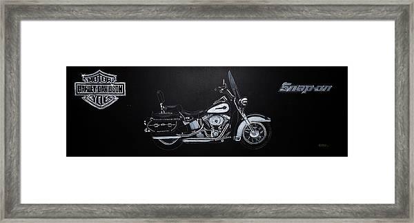 Harley Davidson Snap-on Framed Print