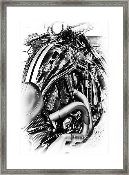 Harley Night Rod Framed Print by Tim Gainey