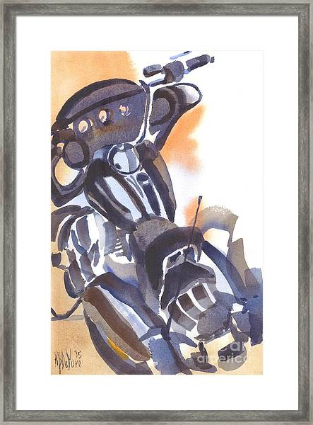 Motorcycle Iv Framed Print