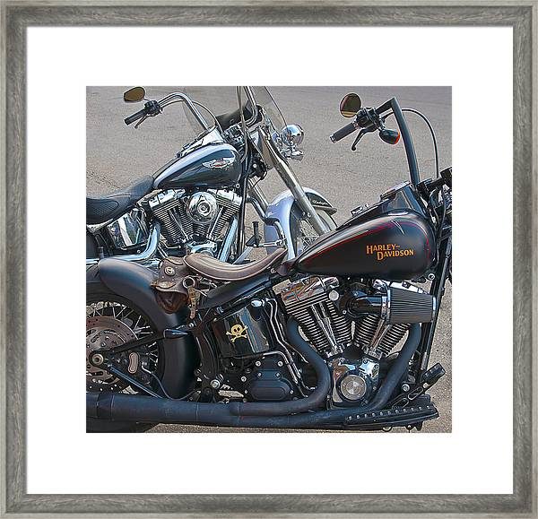 Harleys Framed Print