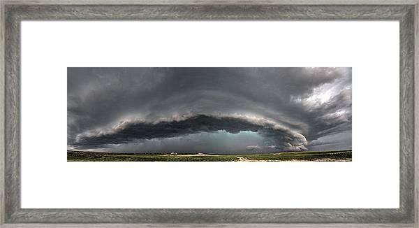 Harlowton, Montana, Supercell Framed Print