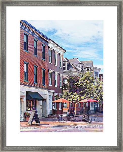 Harrisburg Pa - Coffee Shop Framed Print