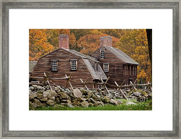 Framed Print featuring the photograph Hartwell Tarvern In Autumn by Susan Cole Kelly