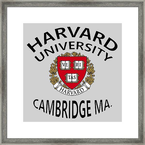 Harvard University Cambridge M A  Framed Print