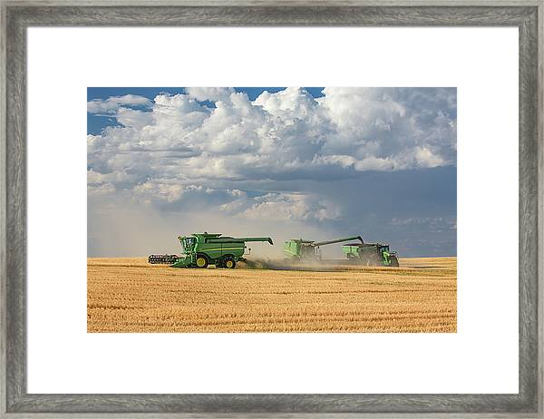 Harvest Clouds Framed Print