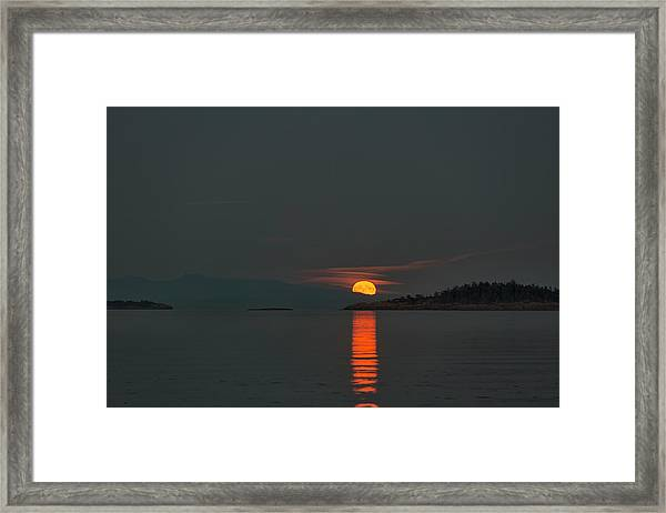 Framed Print featuring the photograph Harvest Moon by Randy Hall